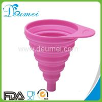 Wholesale Food Grade Kitchen Collapsible Silicone Funnel Retractable Oil Funnel from china suppliers