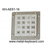 Wholesale Waterproof Metallic Vandal Proof Keypad For Internet Public Kiosk With 16 Keys from china suppliers