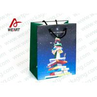 Wholesale CMYK Printing Holiday Christmas Paper Bags For Candy Shop OEM / ODM Avaliable from china suppliers