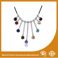 Wholesale Silver Colorful Stones Lace Collarbone Necklace Costume Accessories from china suppliers