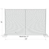 Wholesale galvanized chain link American standard galvanized temporary fence panels from china suppliers