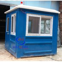 Quality Fiberglass white blue color parking booth portable security booth for highway for sale