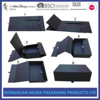 Wholesale Luxury Shoes Magnetic Closure Gift Box , Black Gift Box With Lid Matt Lamination from china suppliers