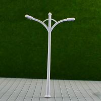 Wholesale RB100- 6V Two-headed Street Plastic Model Lamppost for Train Track Layout 9.5cm from china suppliers