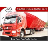 Wholesale 45 Ton 4 Axle Side Tipping Dump Semi Trailer 11000*2500*3300mm from china suppliers