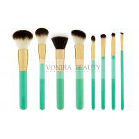Exquisite Synthetic Makeup Brushes Green Wooden Handle