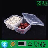 Buy cheap Two Compartment plastic food container / divided clear lunch box 650ml from wholesalers