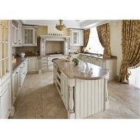Quality Contemporary French style white glazed kitchen cabinet for sale