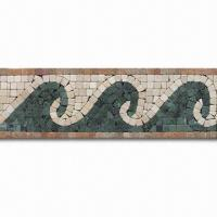 Wholesale Stone Mosaic Border for Outdoor/Inner Kitchen, with Mesh-mounted Paving Type, Measures 305 x 100mm from china suppliers