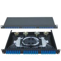 Wholesale 19''Standard Structure SC24 Rack-Mounted  Fiber Optic Patch Panel  Terminal Box from china suppliers