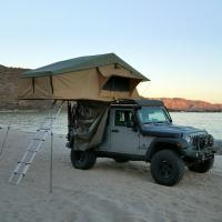 Wholesale PU Coated 4x4 Off Road Roof Top Tent With 2M Extendable Aluminum Ladder from china suppliers