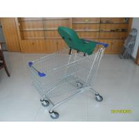Wholesale 210L Grocery Shopping Carts of GS / ROSH Supermarket Cart With Baby Capsule from china suppliers