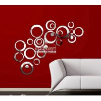 Quality DIY crystal mirror stickers style 3d wall stickers wall decorations stereo circle wall for sale