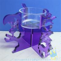 Wholesale CH (19) Acrylic goblet candle holder from china suppliers