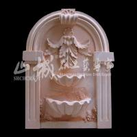 Wholesale Outdoor/Indoor Water Spray Natural Stone Wall Fountain from china suppliers