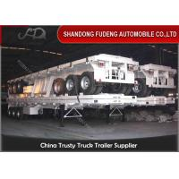 Wholesale 3 axle Container Flat Bed Semi Trailer 40ft flatbed transportation trailers from china suppliers