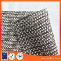 Wholesale Textilene Vinyl Mesh fabric 1X1 weave mesh fabric PVC fabric black white wires from china suppliers