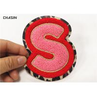 China Embroidery Wholesale Custom Chenille Patch,Iron On Cheap Chenille Letter Patchs on sale