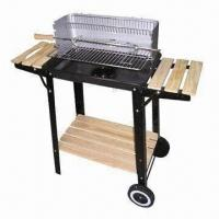 Wholesale Forest Charcoal BBQ Grill/Forest Trolley Charcoal Grill with Powder Coated from china suppliers