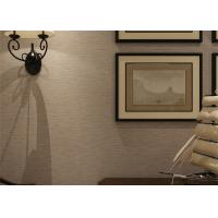 Wholesale Embossed Modern Removable Wallpaper Solid Color Wallpaper With Line Printing from china suppliers