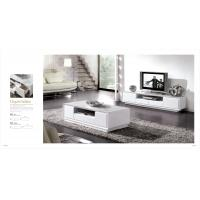 Living room furniture set tv table tea table white for Furniture 80s band