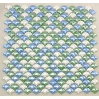 Wholesale Smooth Fish Scale Multi Coloured Mosaic Glass Tile Sheets For Background Building from china suppliers