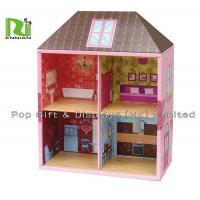 Wholesale Two Layers Showing Corrugated Cardboard House Kids Play Hut Toy from china suppliers