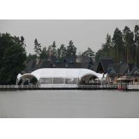 Wholesale Outdoor Metal Shade Canopy , Tension Fabric Shade Structures White from china suppliers