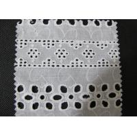 Wholesale Water Soluble White Eyelet Cotton Lace Trim / Cotton Antique Lace Trimmings CY-CX0182 from china suppliers