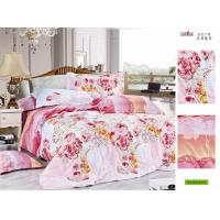 Wholesale Red Flower Printed Decorative King Size 100 Cotton Hotel / Family Bed Sheet Sets from china suppliers