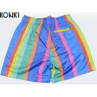 Quality OEM Sublimation Multi Colors Custom Pants Swim Shorts / Beach Shorts For Skate Surf for sale