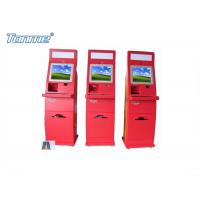 Wholesale Waterproof Red Self Service Bill Payment Kiosk Credit Card Cash Acceptable 17Inch 19Inch from china suppliers