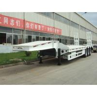Wholesale 70 ton low bed Semi-trailer with 3-axle excavator trailer. low loader 2-hand machines from china suppliers