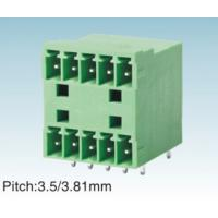 Wholesale IEC61984 Green 3.81MM Pitch Plug In Terminal Block For PCB , Female / Male from china suppliers