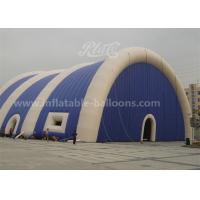 Wholesale PVC Huge Inflatable Air Tent 20M With Blowers , Bule And White Color from china suppliers
