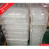 Wholesale Desk Top Clear Acrylic Makeup Organizer Display Plexiglass Desk Organizer from china suppliers