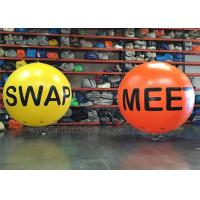 Wholesale Floating Inflatable Helium Balloons , Yellow UV Protective Advertising Sky Balloon from china suppliers