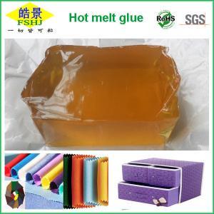 Wholesale Pressure Sensitive Hot Melt Adhesive Yellow Block For Fabric / Mattress Sponge Bonding from china suppliers