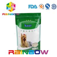 Wholesale Foil Stand Up Pet Food Pouch With Zipper , 500g Plastic Dog Treats Packaging Bag from china suppliers