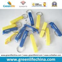 Wholesale Custom Logo Printing on Cheap Popular Plastic Bottle Opener Key Ring Holders from china suppliers