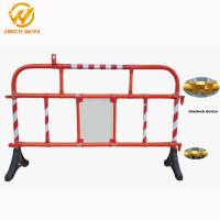 Wholesale 1500*1000Mm Road Plastic Traffic Barriers 360 Degree Swiveled Feet Interlock from china suppliers
