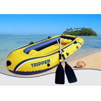 Quality Yellow Beach Tripper PVC Inflatable Boat , Inflatable Rib Boats For Water Sport for sale