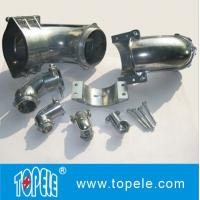 Wholesale Straight / 90 Degree Flexible Conduit and Fittings Metal Zinc Squeeze Angle Connectors from china suppliers