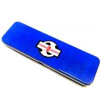 Wholesale Blue Metal Pencil Tin Box Rectangle Stationary Case For Office , 0.23mm Tinplate from china suppliers