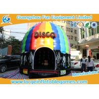 Wholesale 6*5*4M Inflatable Bouncy House Disco Bouncer castle  With Led Ligh & Sound from china suppliers