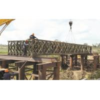 Wholesale Modular Military Floating Bridge , Emergency Use Prefabricated Steel Truss Bridge from china suppliers