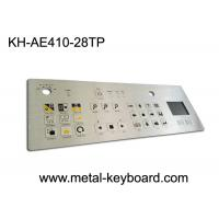 Wholesale IP65 Dustproof Rugged Industrial Metal Stainless Steel Keyboard with Touchpad from china suppliers