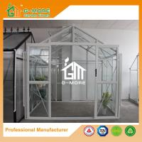Wholesale 195X253X250CM White Color Imperial Series Double Door Glass Greenhouse from china suppliers