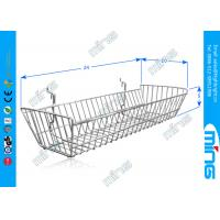 Wholesale Slatwall Metal Mesh Wire Display Baskets / Chrome Wire Storage Baskets from china suppliers