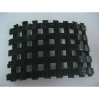 Wholesale Roadbed Ployester Geotextile Fabric Warp Knitting Geogrid 80KN from china suppliers